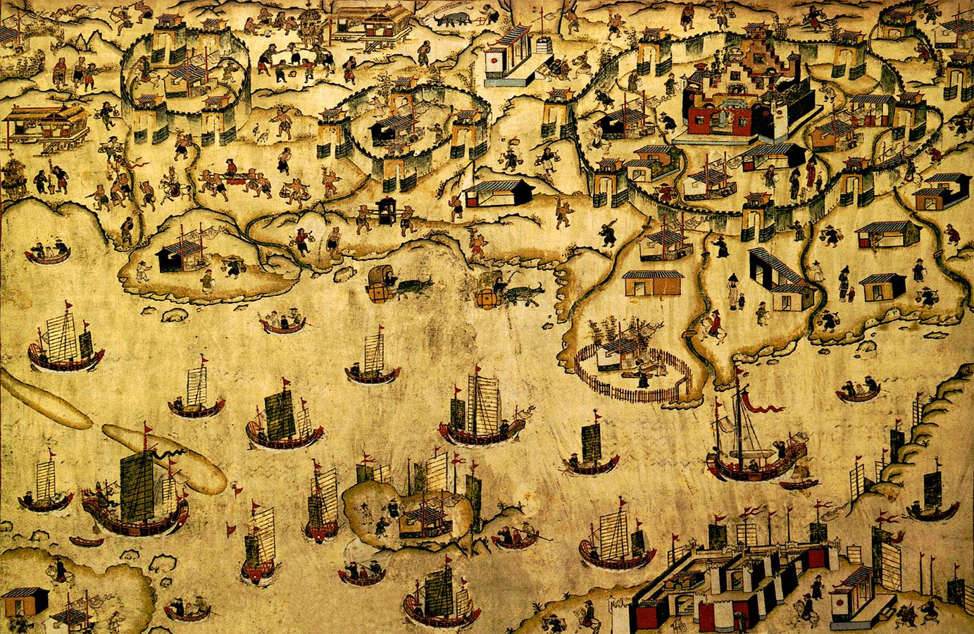 18世紀熱蘭遮城及台灣府城