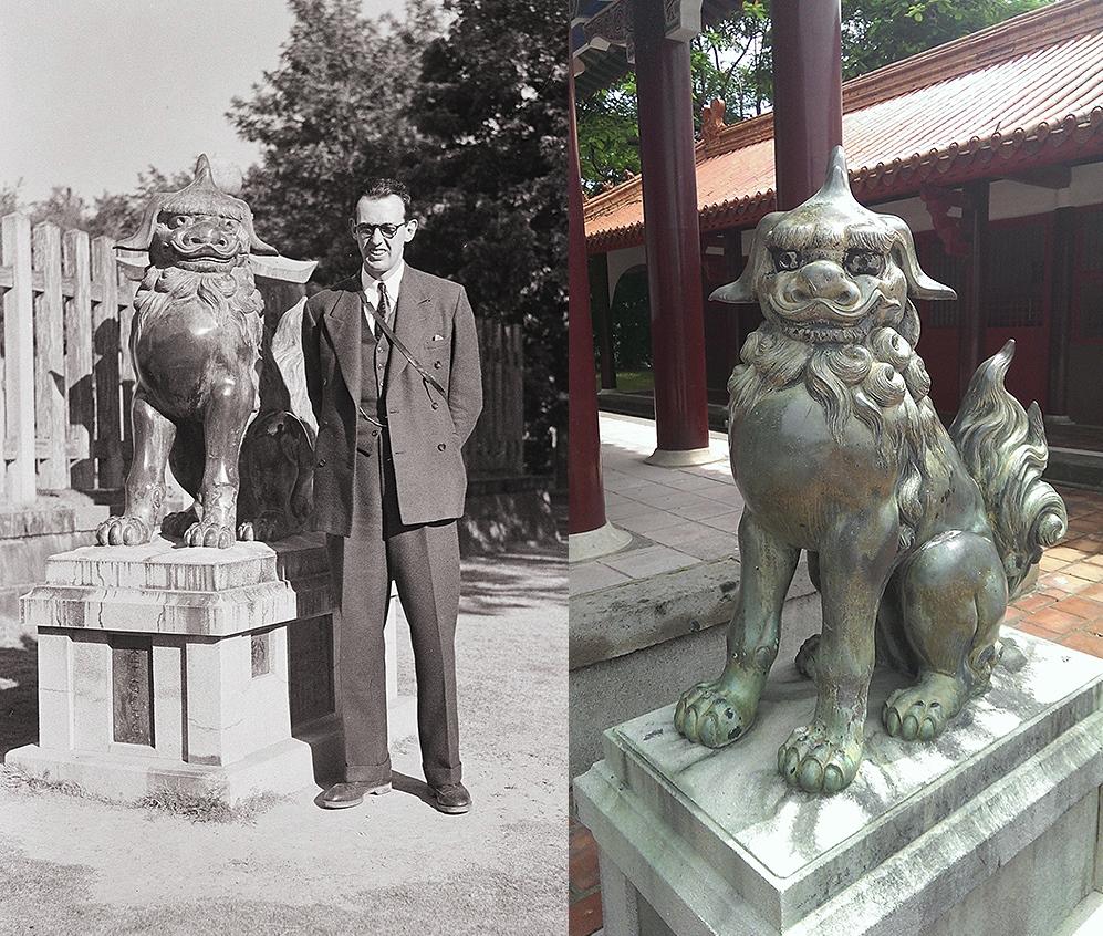 台南神社銅狛犬的流浪