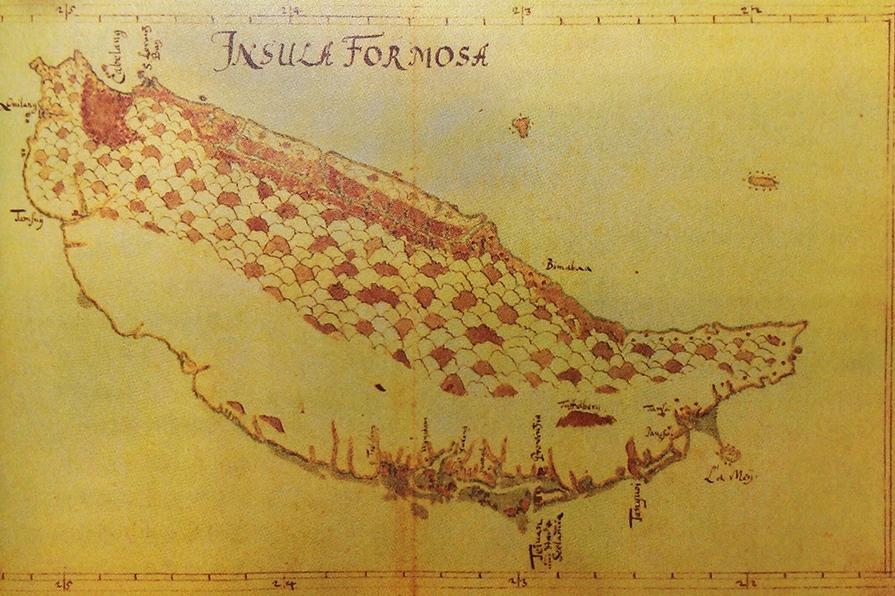 1648年左右的台灣古地圖