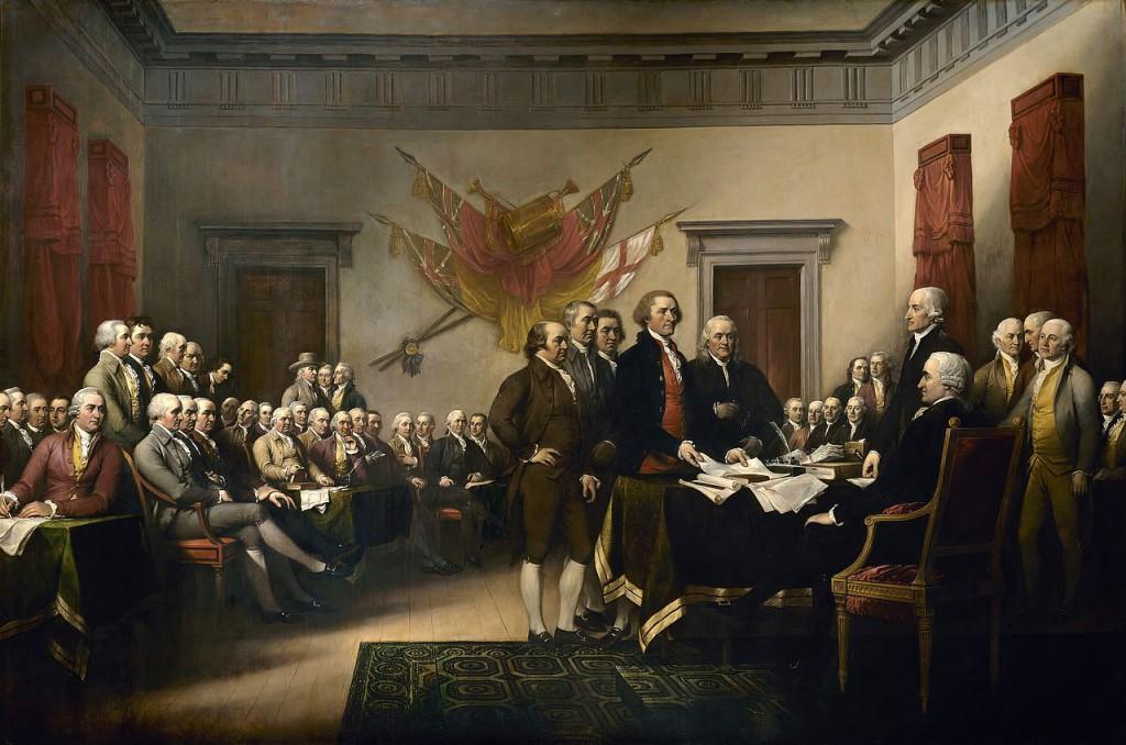 1776/7/4 《美國獨立宣言》於費城簽署