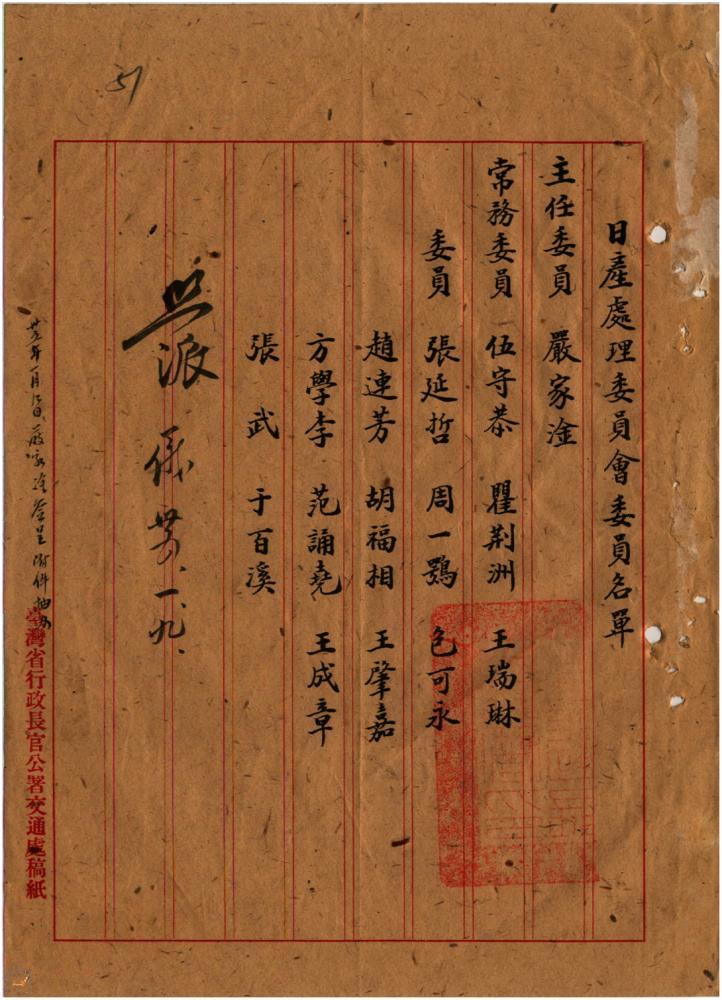 1946.2.18「日產處理組織規程」公佈
