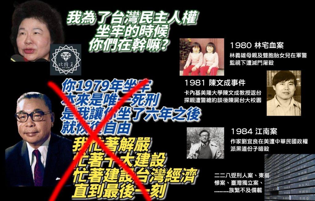 陳菊坐牢期間,蔣經國獨裁政權在忙些什麼?